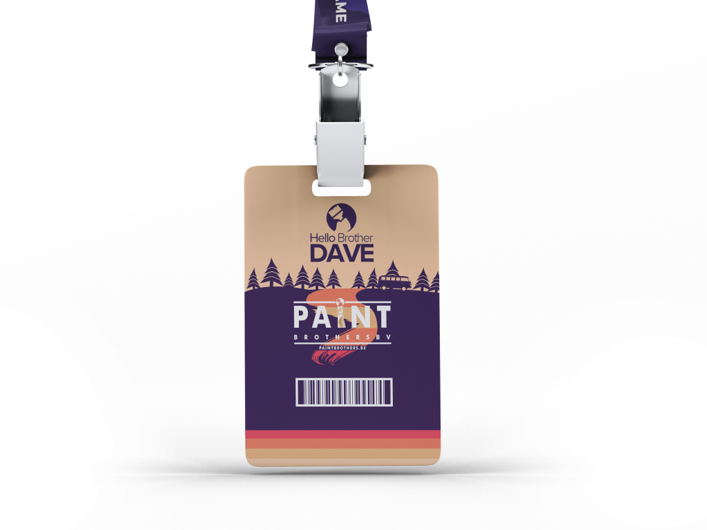 The Paint Brothers ID Badge Front