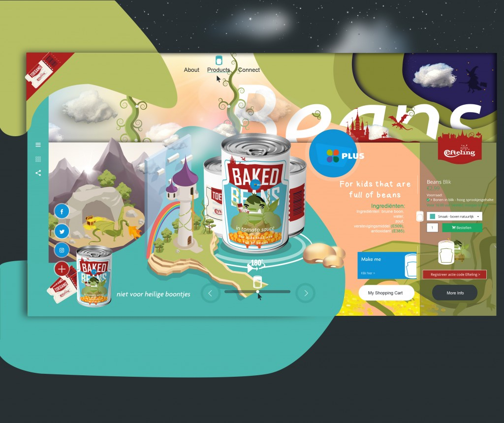 UI/UX Webdesign Rapunzel - Landingpage