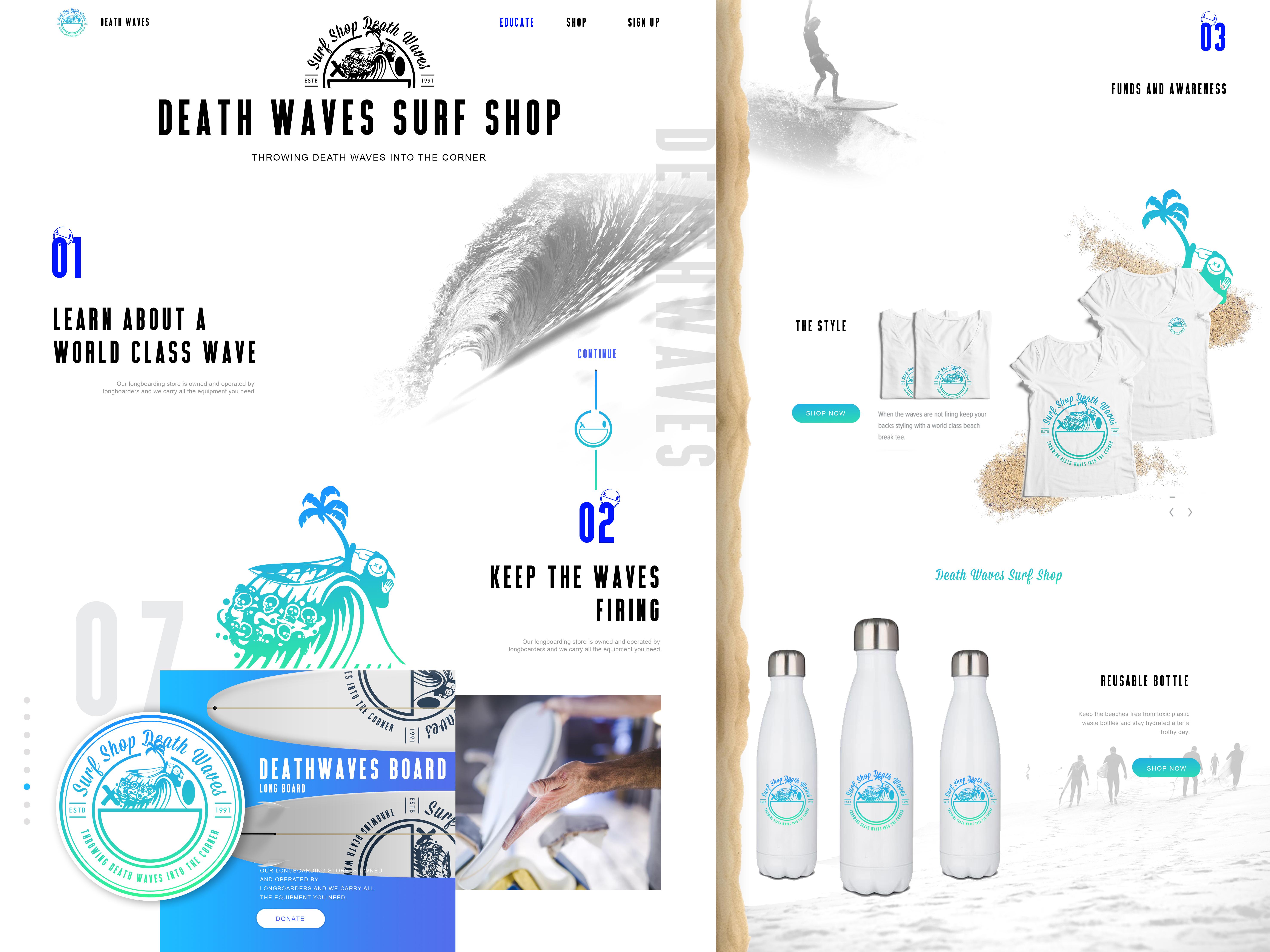 DeathWave_surfshop_webdesign