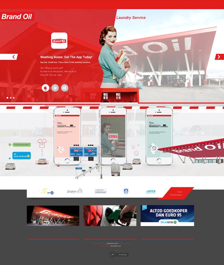 Brand Oil - Concept: Laundry Application Design