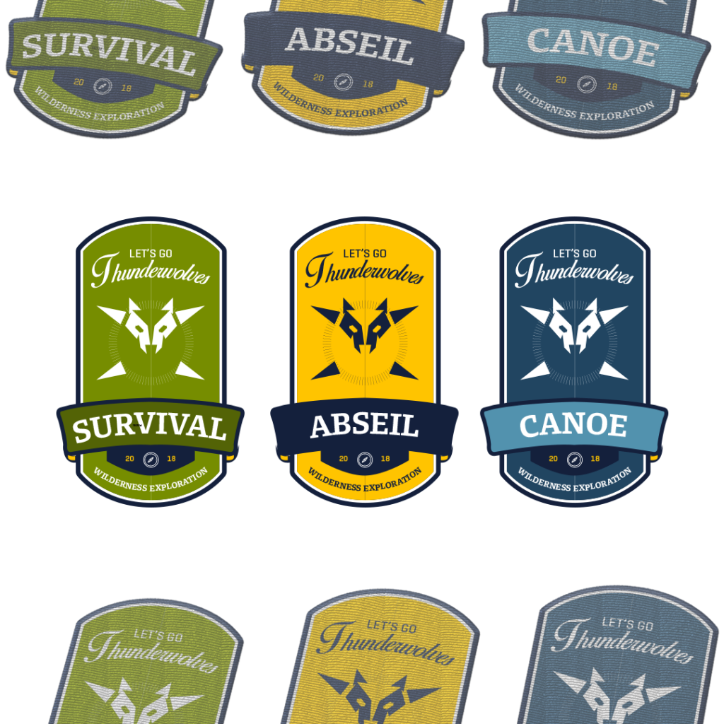 Thunderwolves | Design: Patch / Badge Embroidery