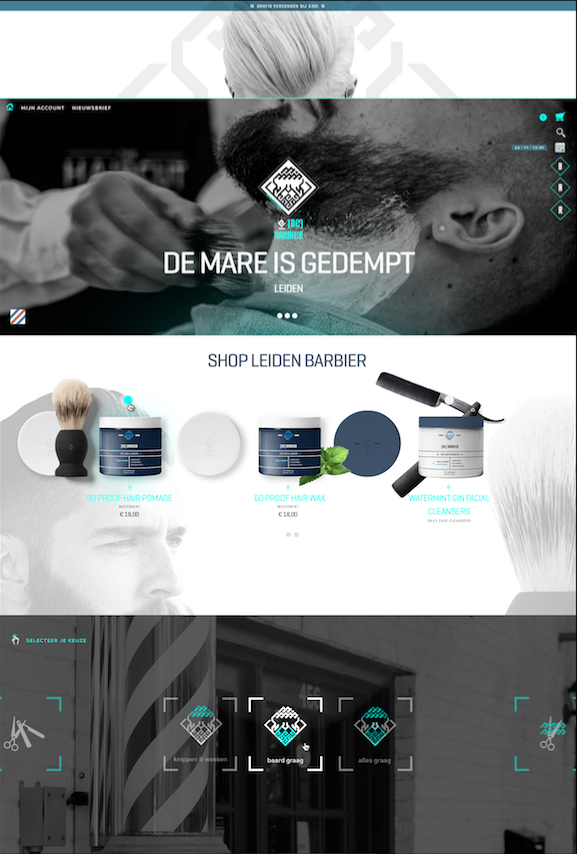 De Barbier - UX/UI Shop Webdesign