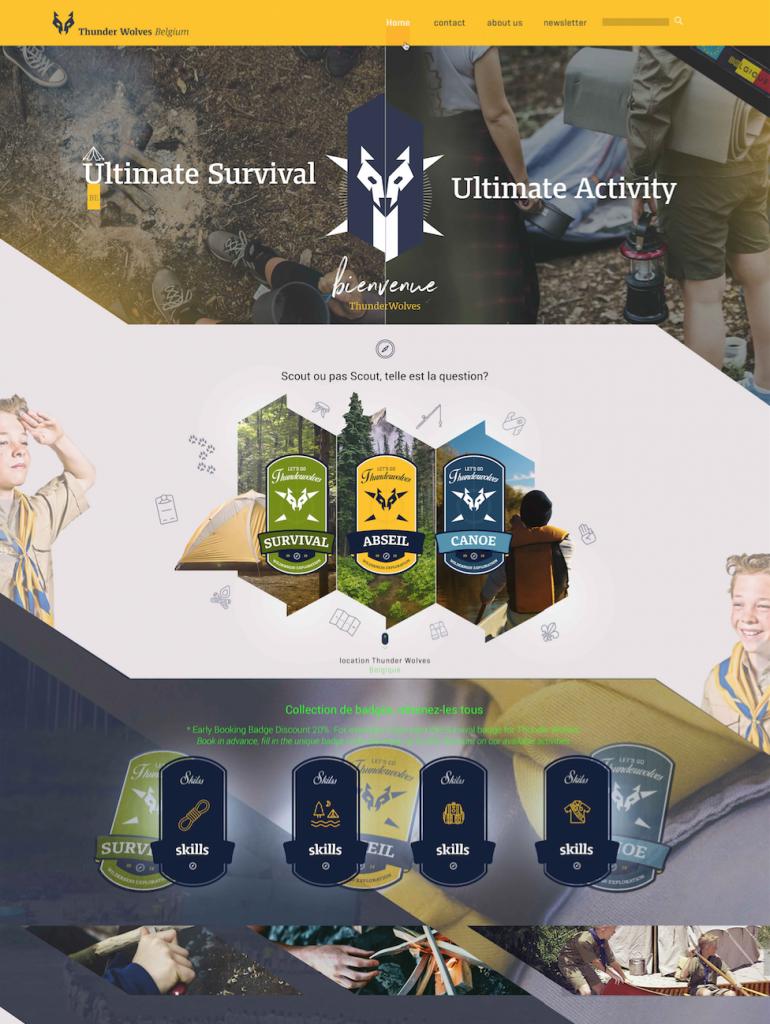 Thunderwolves | UX / UI Webdesign