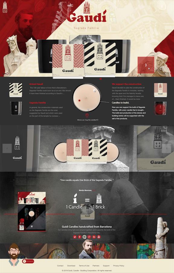 Guidí Candles: Sagrada Família - UI/UI Webdesign