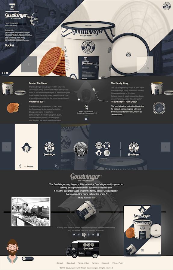Goud vinger: Webdesign