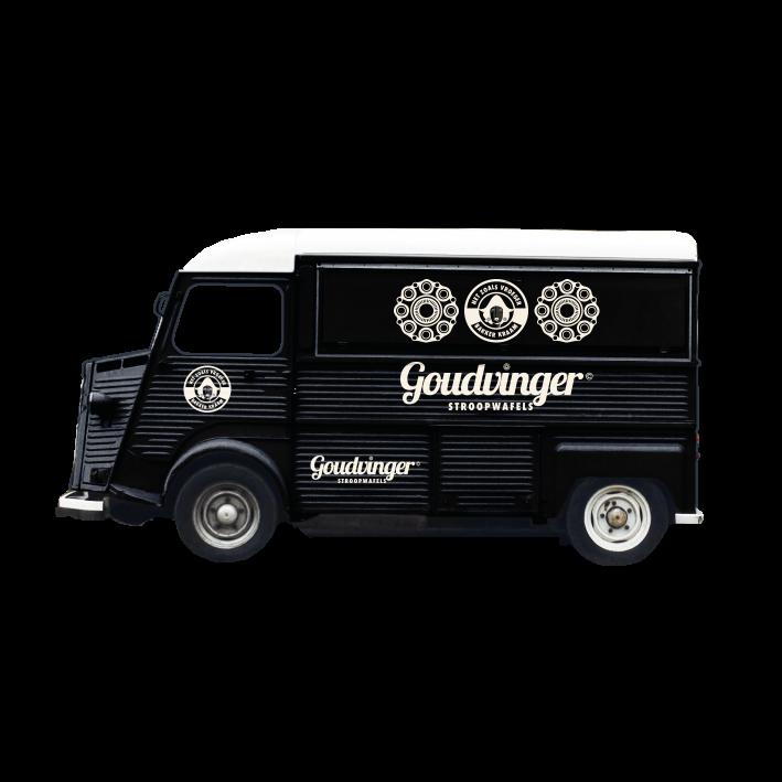 Goud vinger: Stroopwafel truck