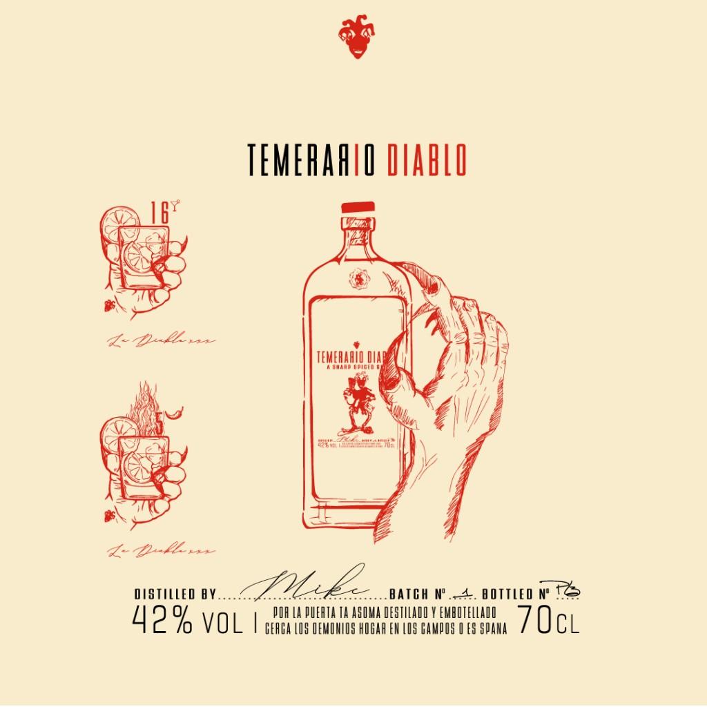 Temerario Diablo - Packaging Design Back