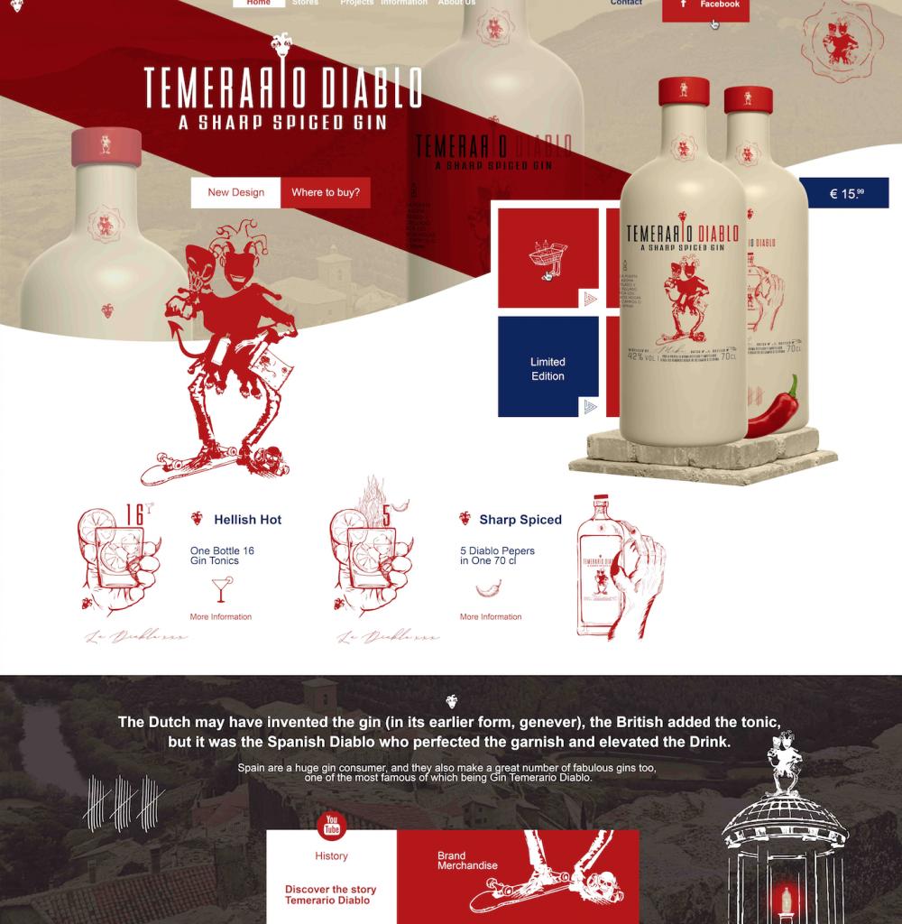 Temerario Diablo - Webdesign