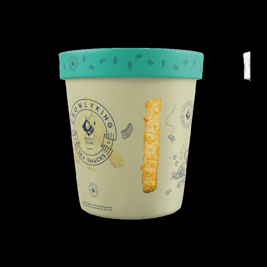 CrowlyKing Packaging Design - Beige Flavor