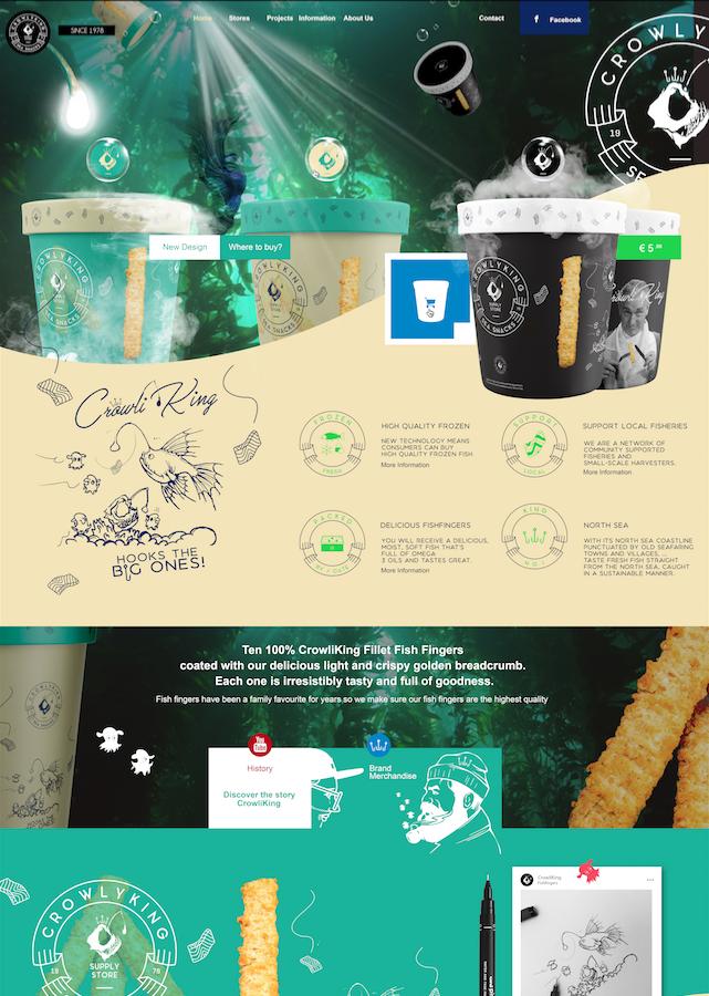 CrowlyKing UI/UX Webdesign