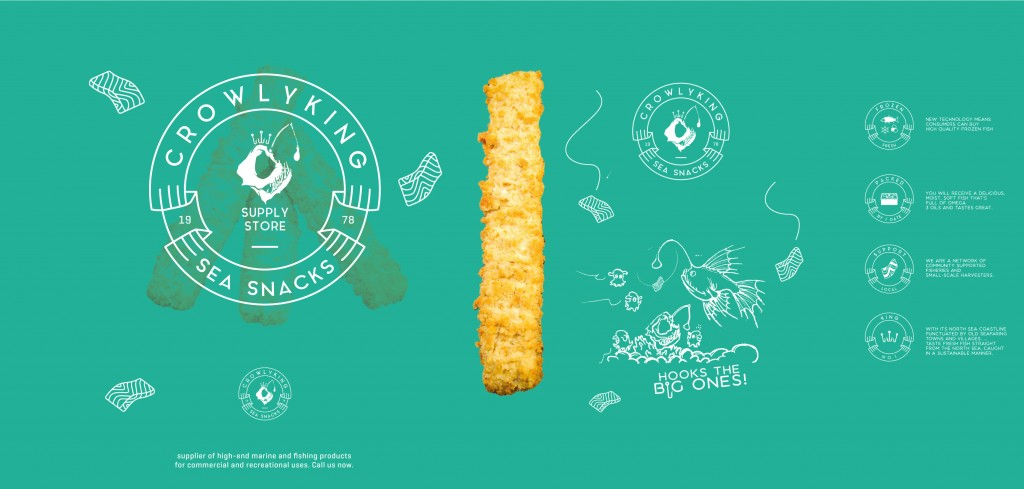 CrowlyKing Packaging Design - Green Flavor