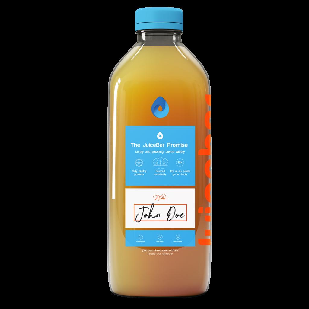 JuiceBar Packaging - Orange Juice - Backside