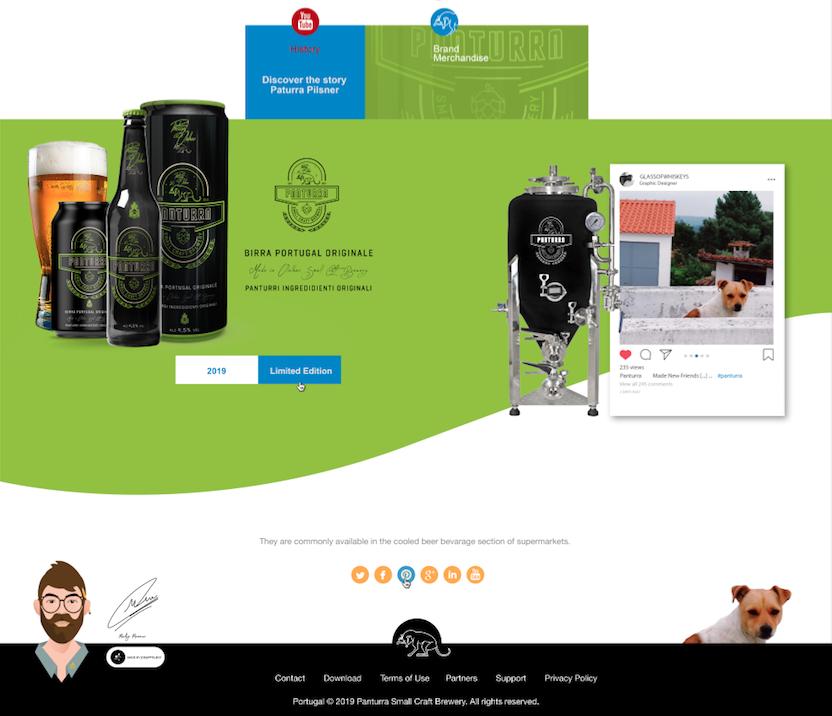 Panturra: Webdesign