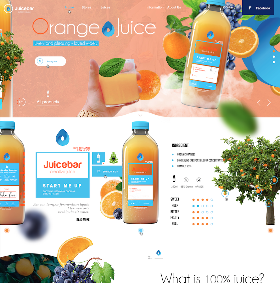 JuiceBar - Webdesign