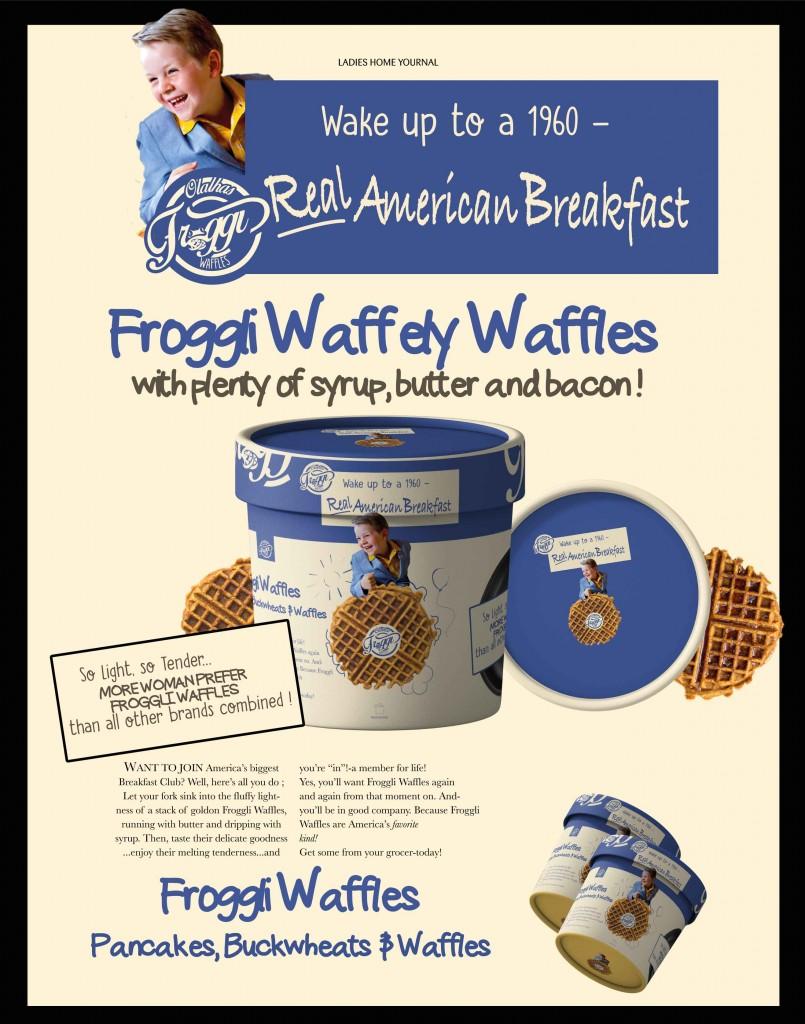 Froggiwaffles - A0 poster Design 1960