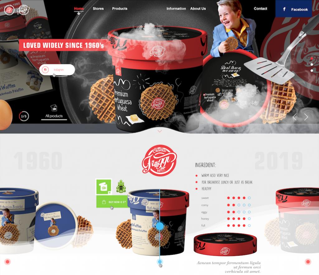 Froggiwaffles - Webdesign